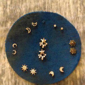 NWT Celestrial motif earring set (7 pairs)